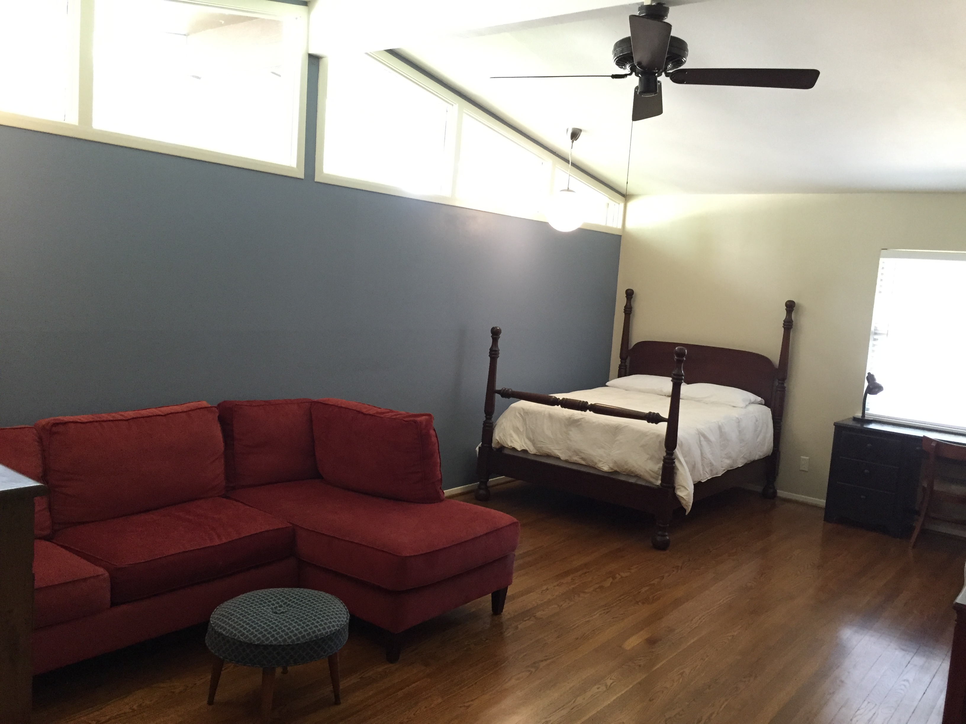 HUGE furnished master suite with private bath in house; includes all utilities